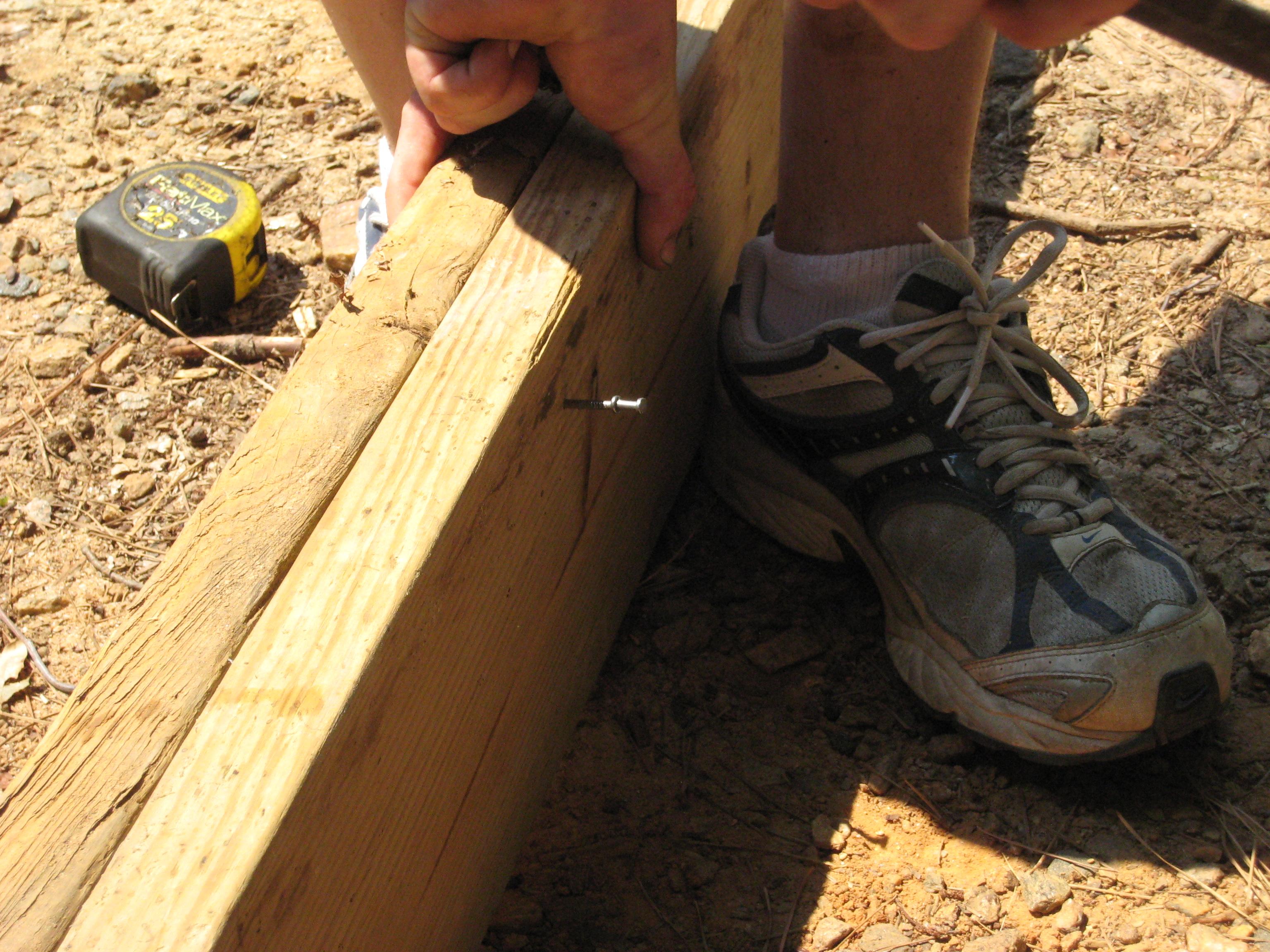 Floating framing over concrete steps | Deck over concrete ... |Wood Stoop Construction Ideas