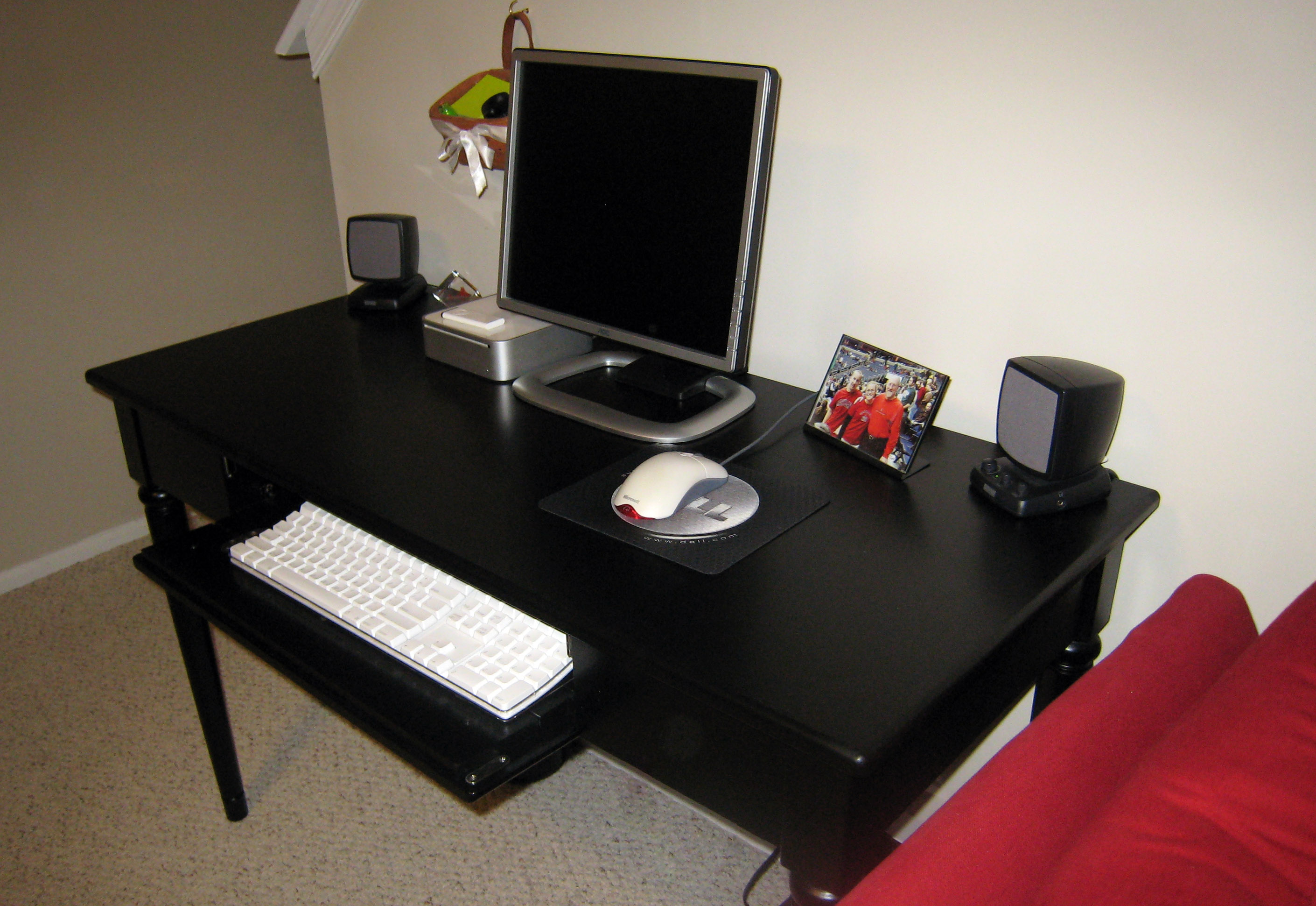 Black Computer Desk Onespace 50jn110500 Ultramodern