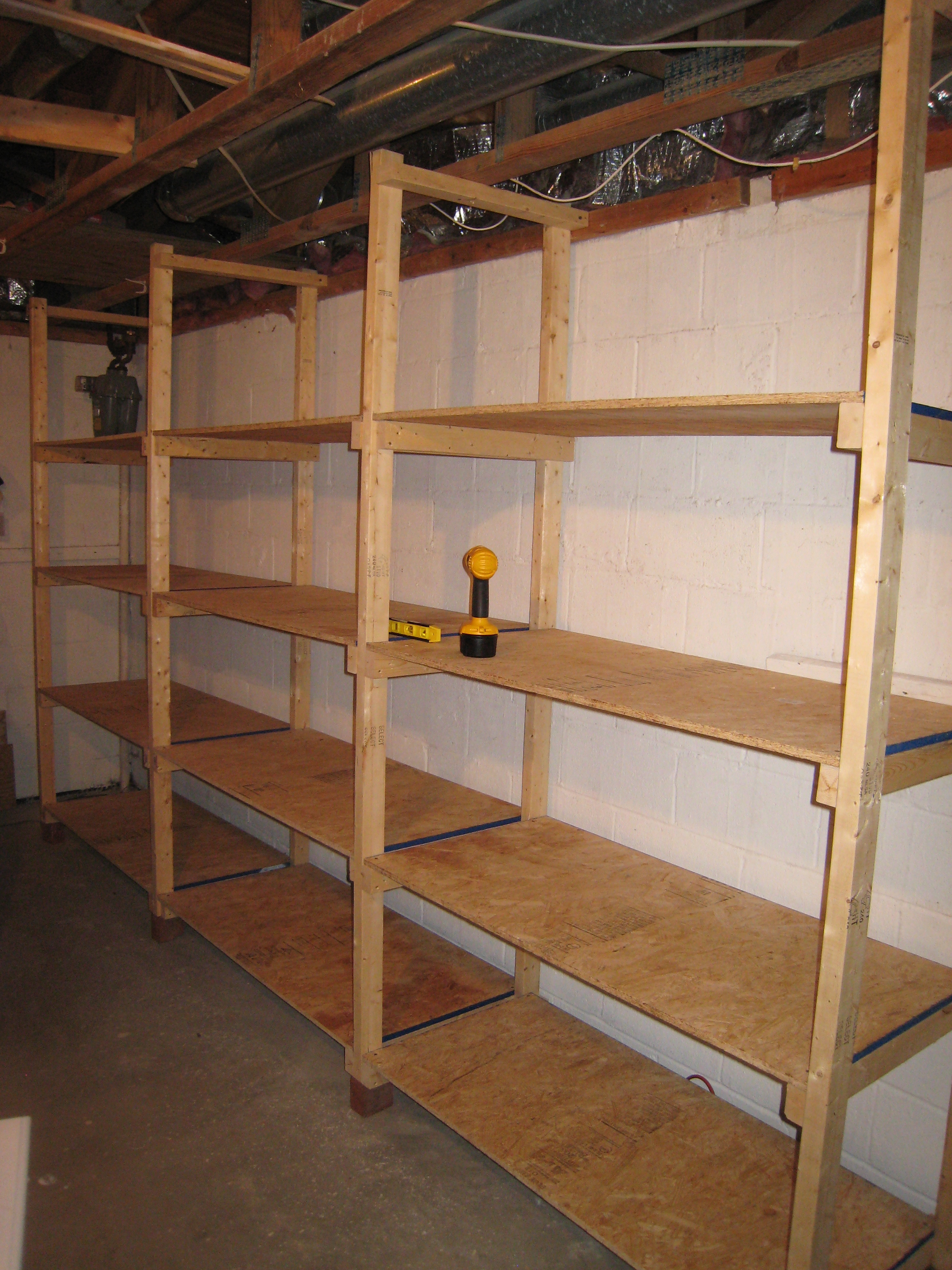 Build wooden storage shelves garage quick woodworking for Garage storage plans