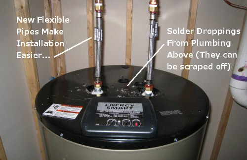 How to install an electric water heater one project closer for How to pipe a water heater