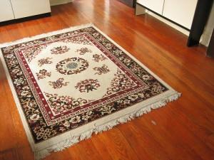 Carpet on hardwood floor