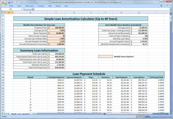 Loan Amortization Calculator  Cash Loan In One Hour