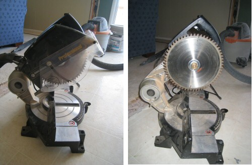 Mitre Saw Blade with Guard and without Guard