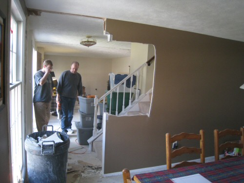 take down wall between stairs dining room. How to Remove Stud Walls to Create an Open Floor Plan   One