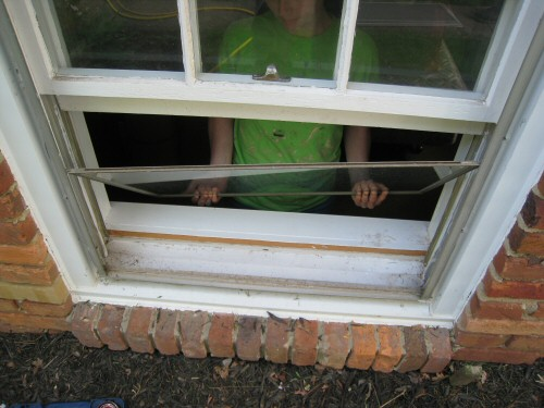 remove storm window panes from a window