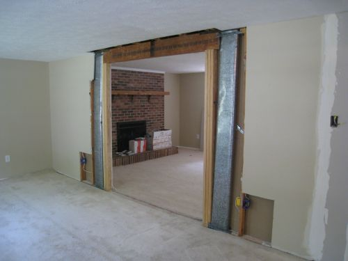 Dining Room with Load-Bearing Wall Removed