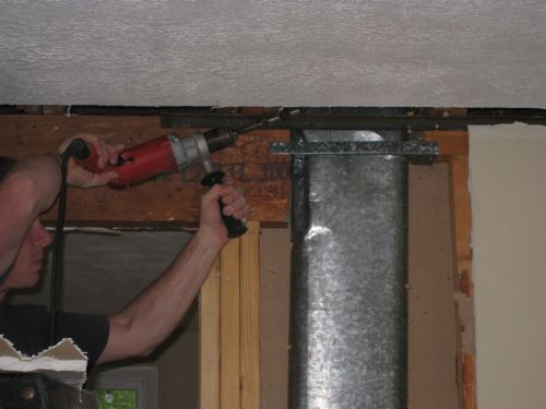 drilling through joists for lighting