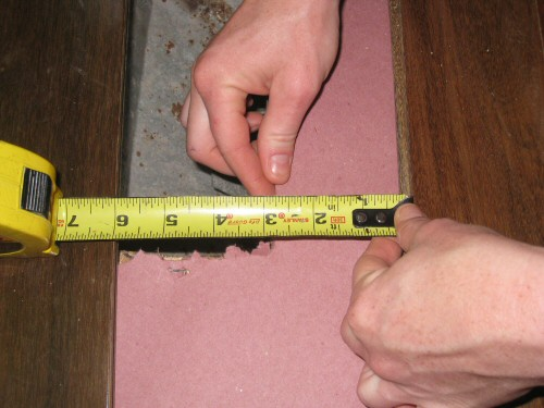 Measure-distance-from-last-board-to-the-vent-opening