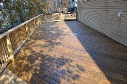 X-100 Deck Sealer on the Surface of a Deck