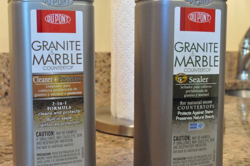 Countertop Paint Sealant : DuPont Granite Sealer Review: The Red Wine Test - One Project Closer