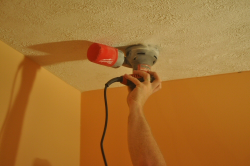 How To Remove A Stipple Ceiling By Sanding One Project