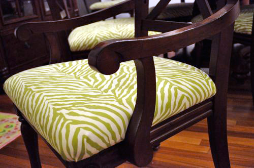 how to reupholster a dining room chair with piping | How to Reupholster Dining Room Chairs - One Project Closer