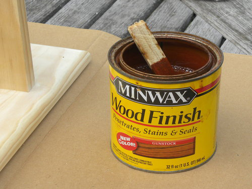 Minwax Colors on Pine The Minwax Gel Stain Color