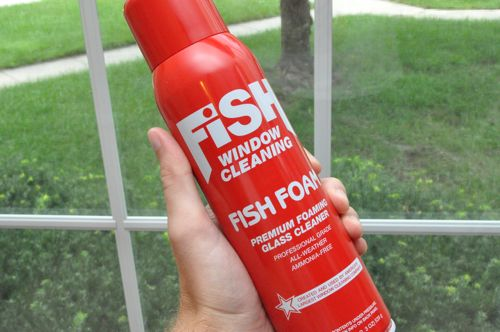 Fish foam window cleaner review one project closer for Fish window cleaning reviews