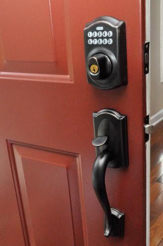 Front door keypads schlage vs kwikset one project closer for Front door lock with code