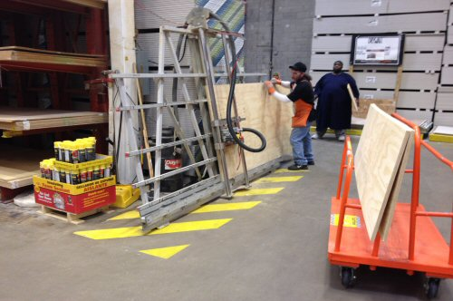 Home Depot Cuting Plywood Service