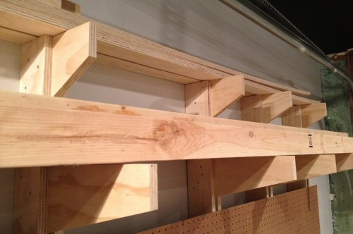 How To Build A Wall Mounted Lumber Storage Rack One