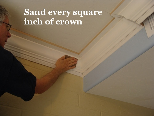 How To Paint A Three-Piece Crown Molding - One Project Closer