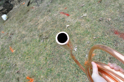 How to repair an underground water pipe one project closer for House water pipes types