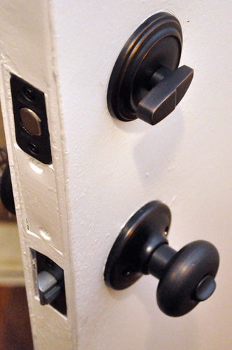 How To Install A New Door Knob And Deadbolt One Project