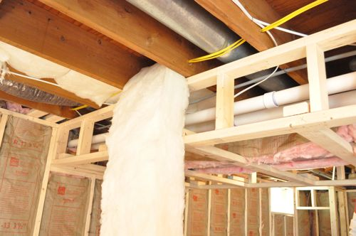 the insulation was held in place with these insulation supports that