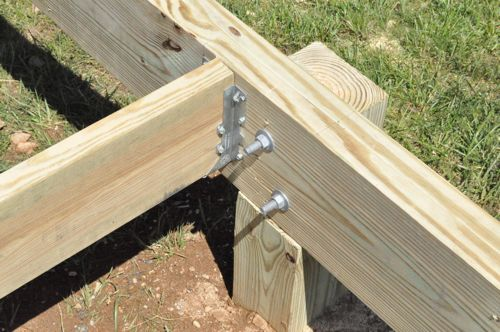 How to Build a Post & Beam Shed Foundation on a Slope - One Project ...