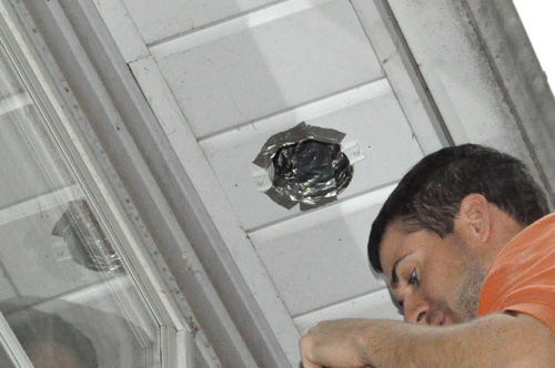 How to install a retrofit bathroom vent fan one project for Install bathroom exhaust fan