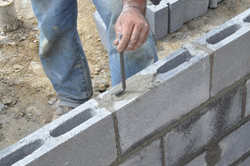 How to Build a Concrete Block Foundation - One Project Closer
