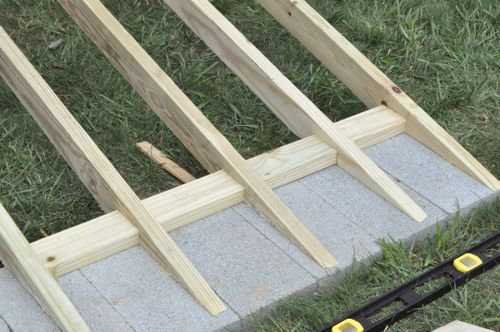 I Have To Physique A Throw Off Ramp Because The Ground Around My Shed  Slopes How To Build A Shed Ramp On Uneven Ground.