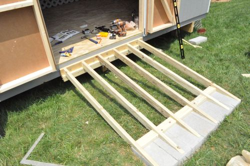How to Build a Shed Ramp - One Project Closer