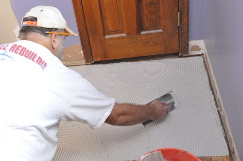 Tile over Concrete Subfloor - Tile Subfloor: Deflection, Thickness, Common Substrates - One