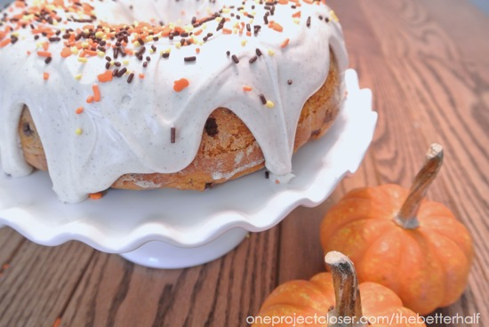 Pumpkin Cinnamon Chip Cake from One Project Closer