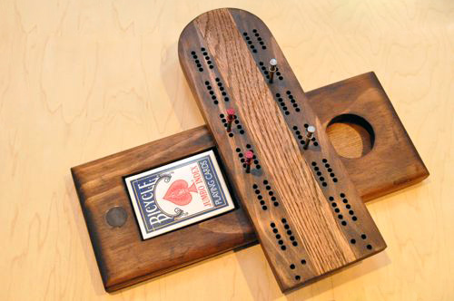 how to make a cribbage board one project closer