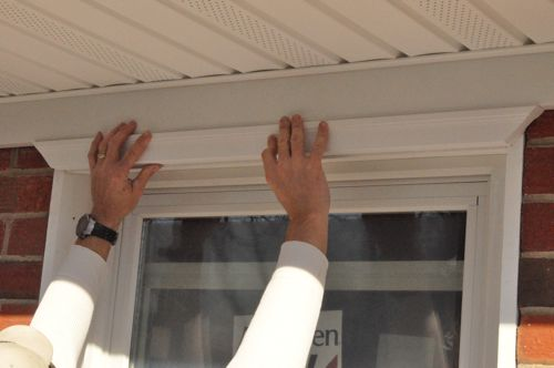 Exterior Window Trim Brick how to install a window - one project closer