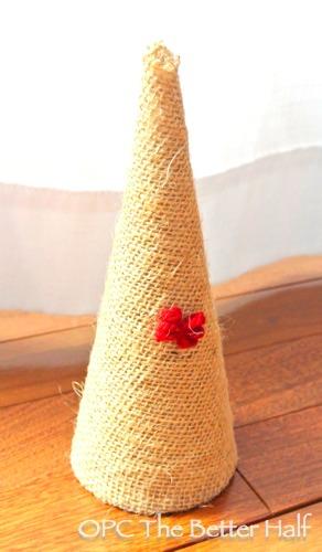 Burlap Tree with Yarn Mini Bow - OPC The Better Half
