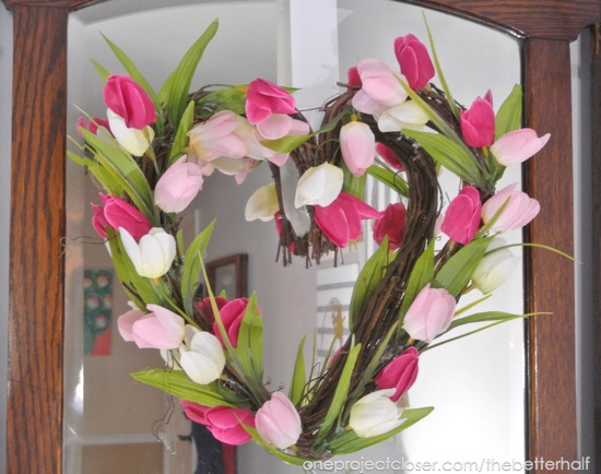 Heart Tulip Wreath - One Project Closer