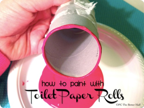 Toilet Paper Roll Painting - OPC The Better Half