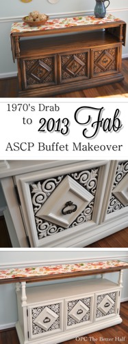 Drab To Fab Annie Sloan Chalk Paint Buffet Makeover - OPC The Better Half