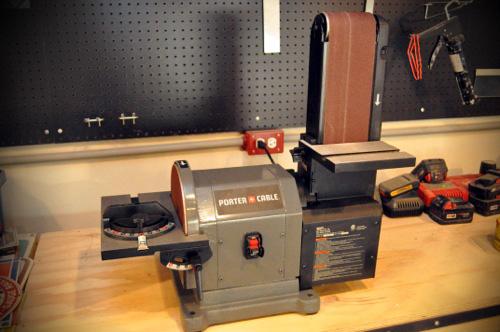 Belt sander stand porter cable