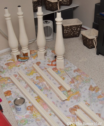 Painted table pieces - - OPC The Better Half