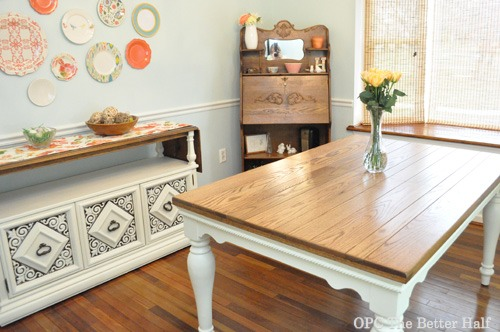 DIY Farmhouse Style Dining Table - OPC The Better Half