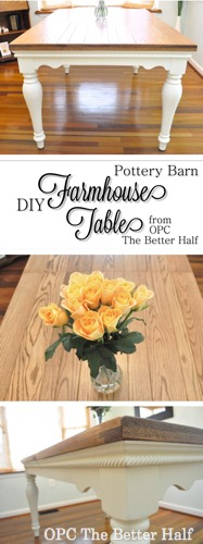 DIY Farmhouse Style Dining Table - OPC The Better Half