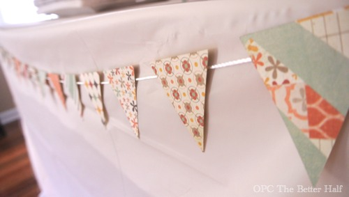 Paper Bunting and Vintage Biplane Baby Shower Ideas - OPC The Better half