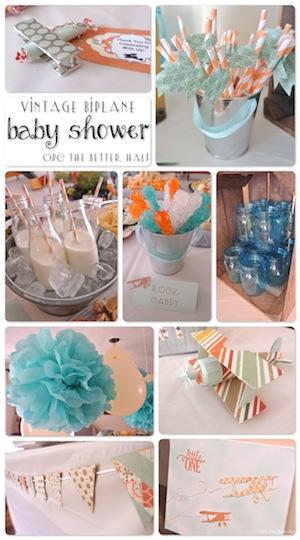 VIntage Biplane Baby Shower