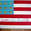 Rustic Cedar Shim Flag from Shaken Together!