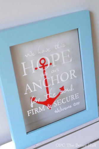 Nautical Frame using glass paint pens - OPC The Better Half