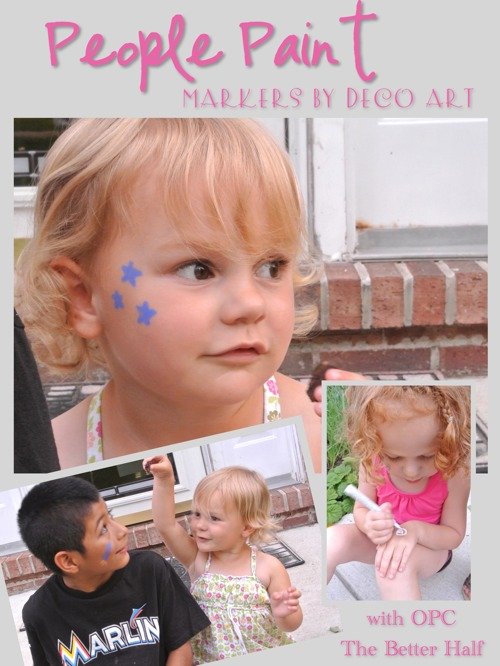 People Paint - face paint markers from Deco Art - with OPC The Better Half