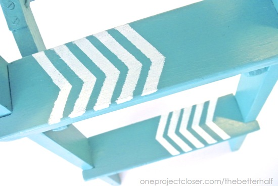 Stenciled Step Ladder - One Project Closer