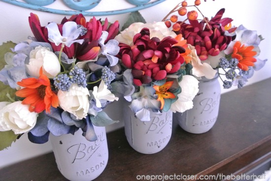Painted Ball Jars - One Project Closer