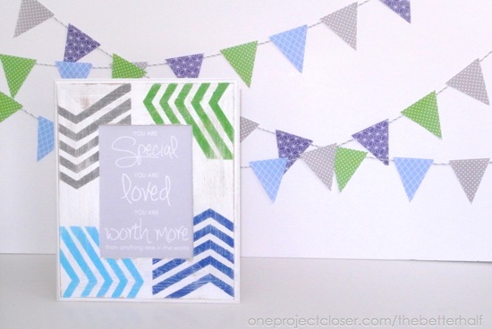 DIY Wooden Frames with Free Printable - One Project Closer
